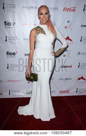 LOS ANGELES - OCT 25:  Bonnie McKee at the Internation Film Fashion Awards at the Saban Theater on October 25, 2015 in Los Angeles, CA