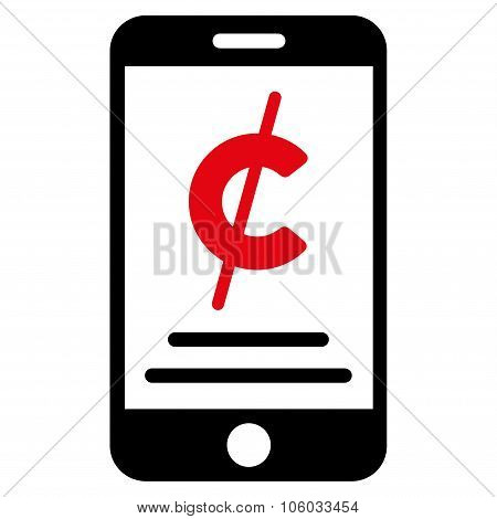 Mobile Micropayment Flat Icon