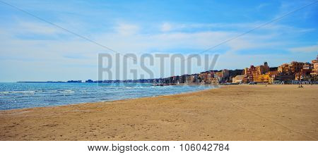 Seascape in Italy, between Anzio and Nettuno poster