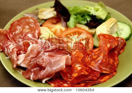 Cold Meat Platter with Antipasto