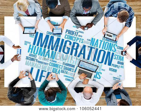 Immigration International Government Law Customs Concept