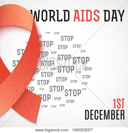 World Aids Day. Stop Aids. 1th december. Brochure against AIDS