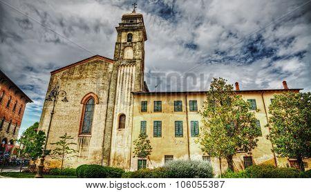 Sant'antonio Abate Steeple In Pisa