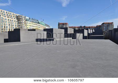 Holocaust Memorial to the Murdered Jews of Europe (Denkmal fuer die ermordeten Juden Europas) poster