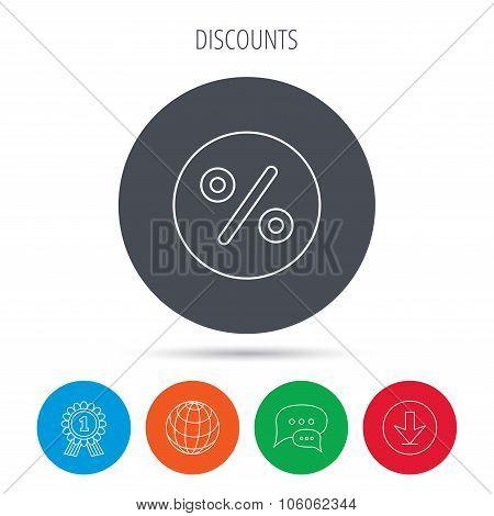 Discount percent icon. Sale sign.