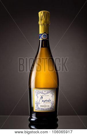 MIAMI, USA - October 22, 2015: Bottle of Cupcake Vineyards Prosecco.