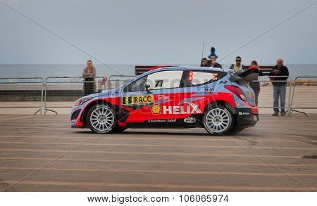 Hyundai i20 WRC Car in Salou, Spain