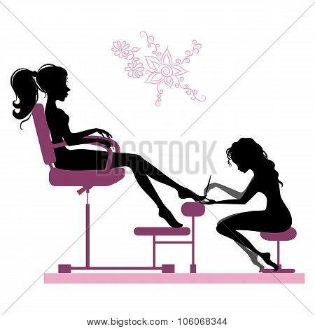 Girl Making Pedicure