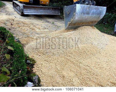 Sand and Gravel Path