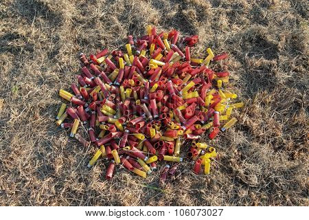 Pile Of Spent Shotgun Shells 1