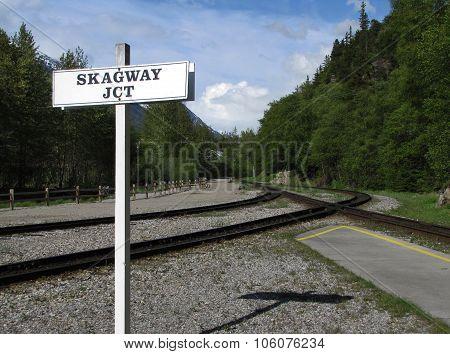 Arriving at the Station in Skagway, Alaska