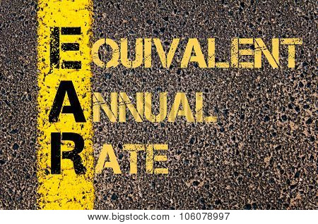 Business Acronym Ear As Equivalent Annual Rate
