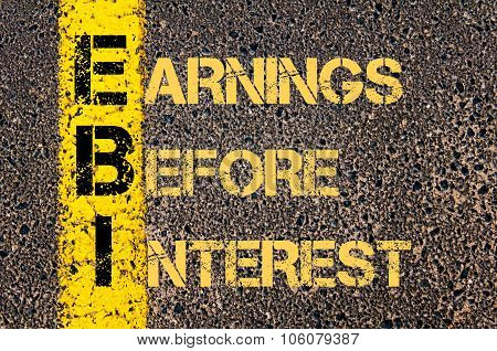 Business Acronym Ebi As Earnings Before Interest