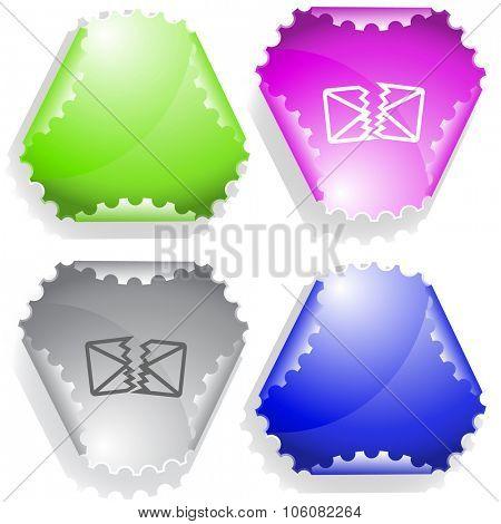 defective mail. Raster sticker.