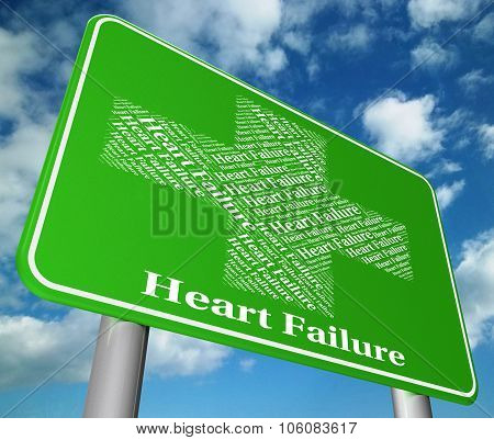 Heart Failure Shows Hearts Failures And Diseased