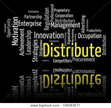 Distribute Word Shows Supply Chain And Delivery