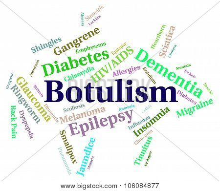Botulism Illness Representing Food Poisoning And Afflictions poster