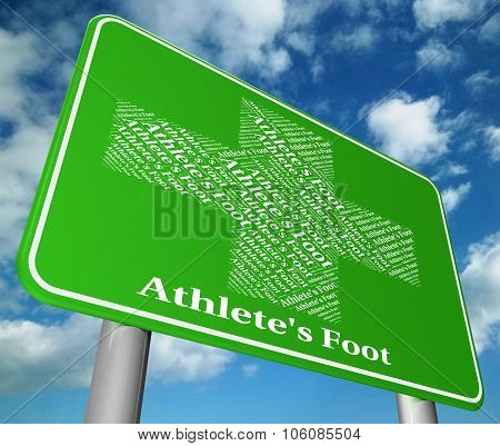 Athlete's Foot Shows Tinea Pedis And Ailment
