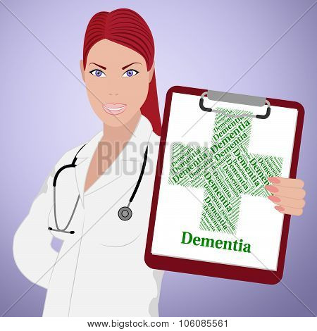 Dementia Word Means Alzheimer's Disease And Attack