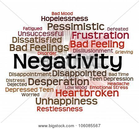 Negativity Word Represents Refuse Opposed And Refusing