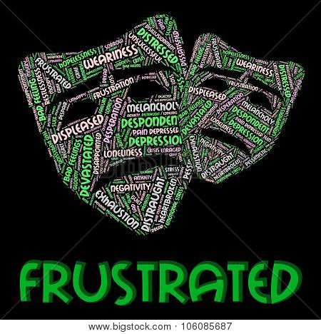 Frustrated Word Meaning Embittered Wordcloud And Text poster