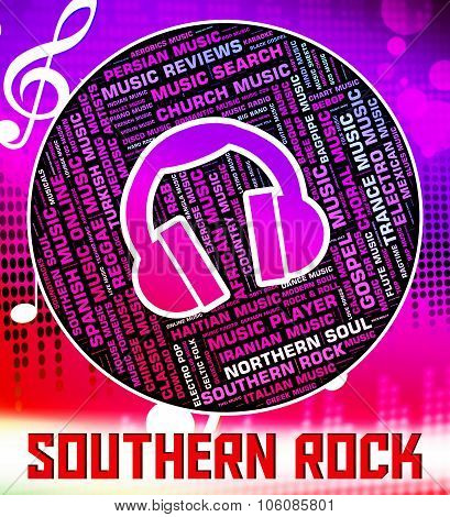 Southern Rock Shows Electric Guitar And Harmony