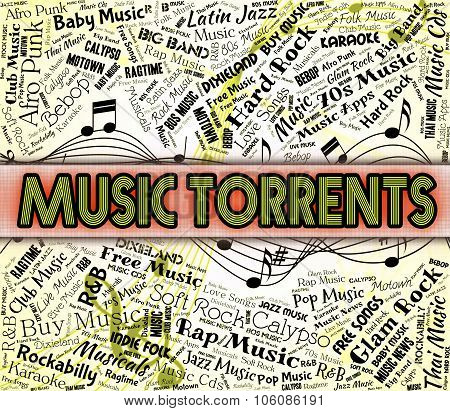Music Torrents Shows Sound Track And Data