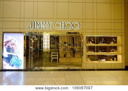 HONG KONG - OCTOBER 25, 2015: interior of the Landmark shopping mall. The Landmark, also known as