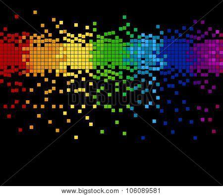 pixel mosaic - vector