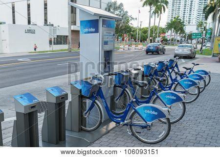 Miami, Florida Citi Bike Bicycle Sharing Station