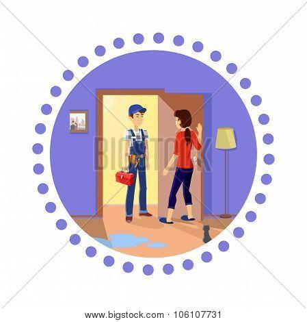 Housewife Meets Master Repairman