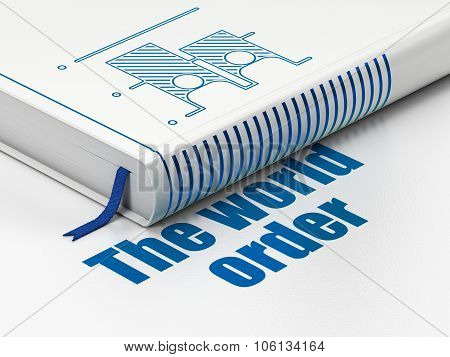 Politics concept: book Election, The World Order on white background