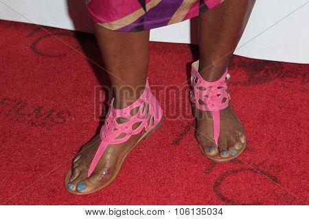 LOS ANGELES - OCT 24:  Loretta Devine (shoe detail) at the