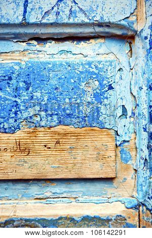 Dirty   Paint In The Blue Wood  Rusty Nail