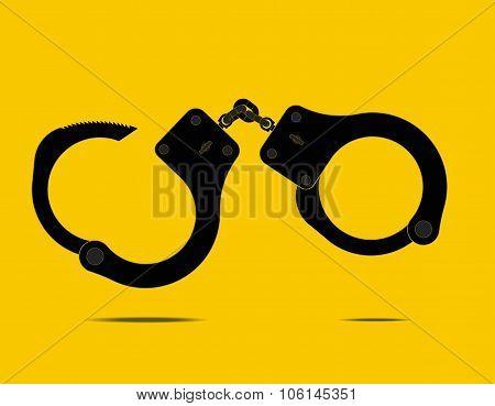 handcuffs - Vector illustration