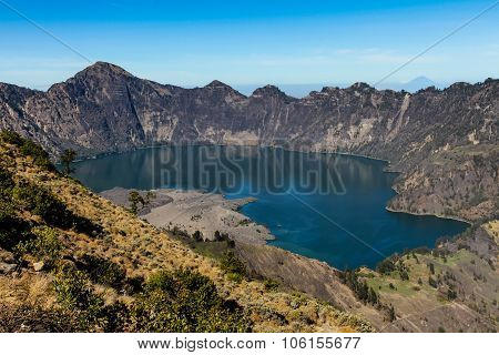Active Jari Baru Volcano And Lake - Mt.rinjani,lombok, Asia