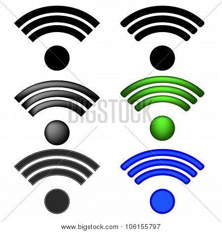 Set of Radio Icons