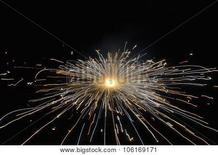 Firework ground spinning wheel