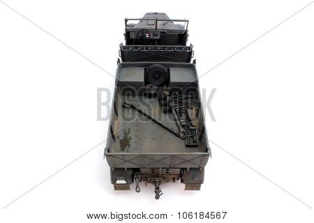 Half-track Model Rear View From Above