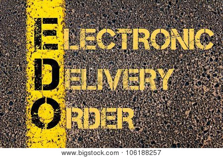 Business Acronym Edo As Electronic Delivery Order