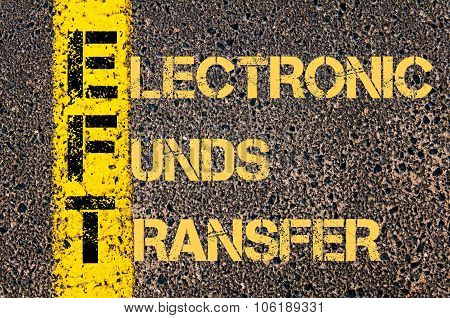 Business Acronym Eft As Electronic Funds Transfer