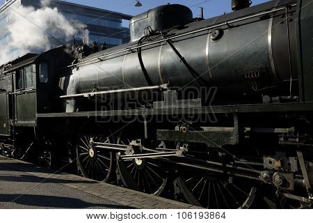 Old Steam Train At The Platform