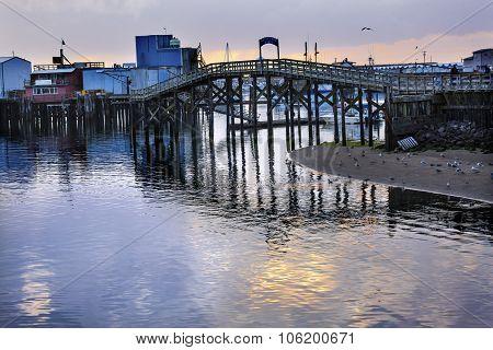 Wooden Bridge Fish Processor Westport Grays Harbor Washington State