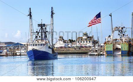 Fishing Boat Maritime Museum Flag Westport Grays Harbor Washington State
