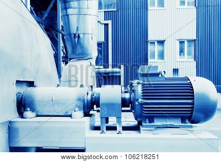 Electric motor in factory