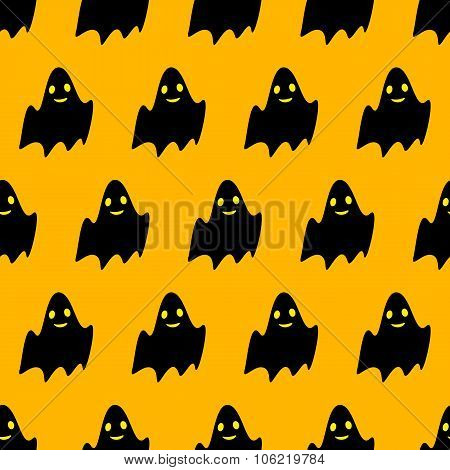 Pattern With Cute Ghosts
