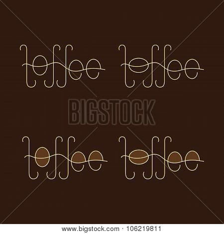 Set Of Toffee Logo Template