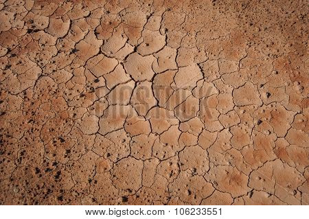Soil Cracks Desert Sands