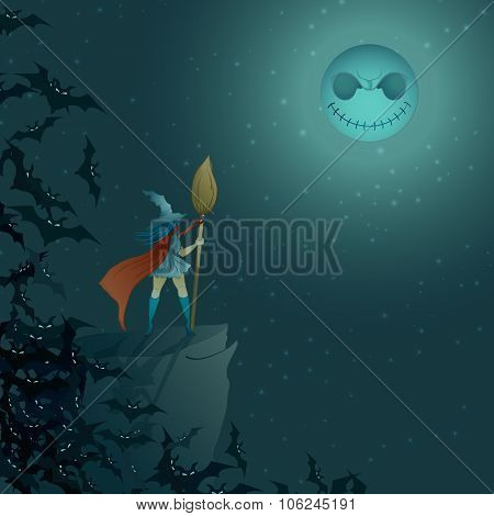 wicked halloween glow - Illustration