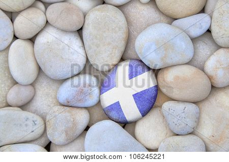 Scotland Flag Pebble
